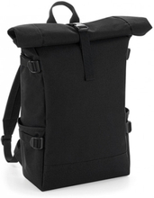 Block Roll-Top Backpack Black/Black