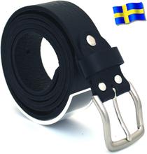 Läderbälte Bull svart 30mm 801