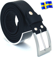 Läderbälte Bull svart 30mm 802