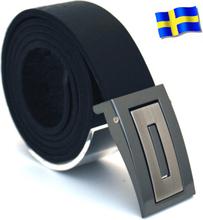 Läderbälte Bull svart 35mm 851-SP2