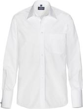 Skjorta TAYLOR dubbel manschett vit regular fit