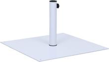 vidaXL Parasollfot vit stål fyrkantig 17 kg
