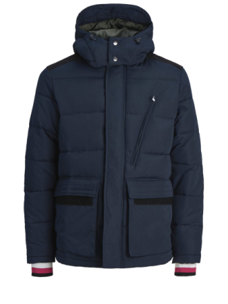 JACK & JONES Detailed Puffer Jacket Men Blue