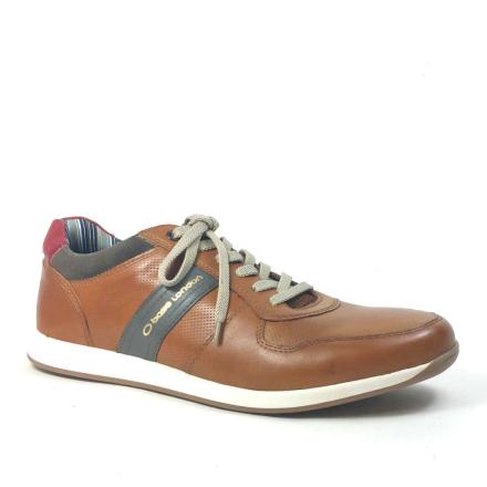 Base London Eclipse Skinnsneakers, brun
