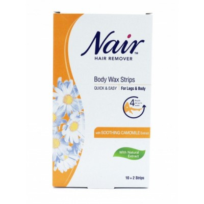 Nair Camomile Body Wax Strips 12 kpl