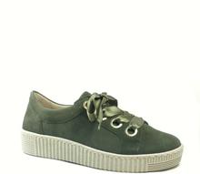 Gabor Sneaker med satinband, olivgrön
