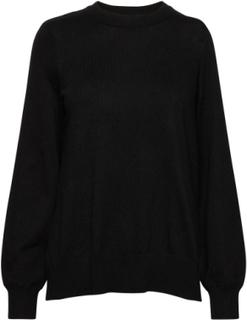 Asta Knitted Sweater Strikket Genser Svart Gina Tricot