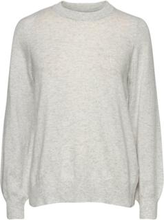 Asta Knitted Sweater Strikket Genser Grå Gina Tricot