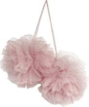 PomPom ljus rosa med glitter (stora)