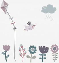 Väggdekor blommor Farm, rosa