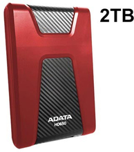 Adata HD650 USB 3.1 Ekstern Harddisk - 2TB - Rød