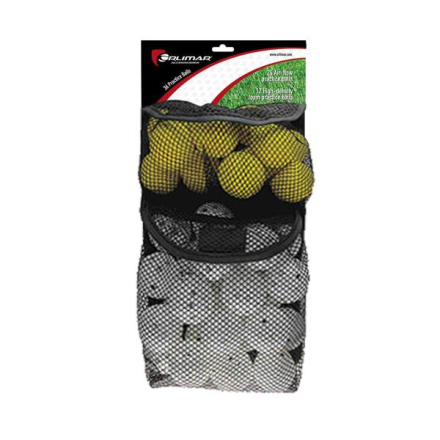 Orlimar 36 Pack Practice Balls (24 with Holes, 12 Foam)