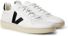 Veja - V-10 Rubber-trimmed Leather Sneakers - White