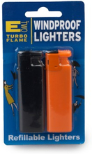 E Two Windproof Refillable Lighters 2 stk