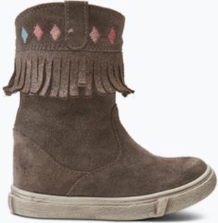 Barnestøvler med glitrende frynsekant og broderier