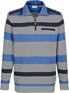 Sweatshirt Roger Kent grå/blå stripet