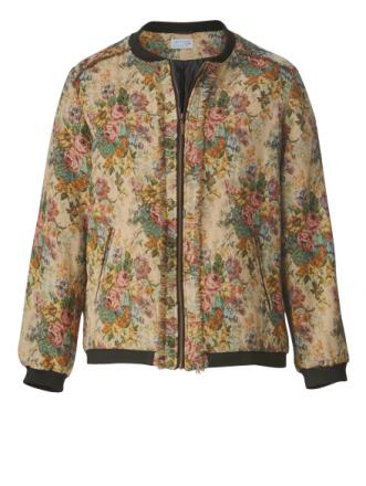 Mønstret jakke i gobelin med frynser Angel of Style Multicolor