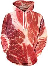 Kangaroo Pocket Raw Meat Hoodie