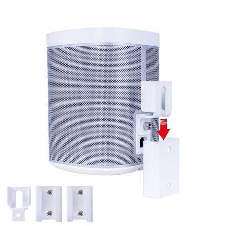 Vebos bærbare veggfeste Sonos spille 1 hvit
