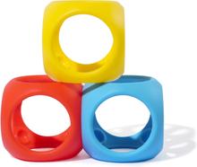 Oibo klossar-bollar (primärfärger, 3 st)