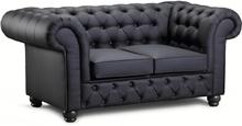 Chesterfield New England 2-sits soffa i tyg - Valfri färg