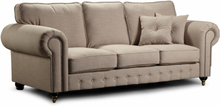 Chester York 3-sits soffa - 250 cm