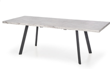 Darius matbord utdragbart - Vit marmor/svart