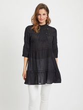 VILA Lace 3/4 Sleeved Tunic Women Black