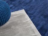 Matta - marinblå - viskos - kort lugg - 160x230 cm