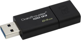KINGSTON USB 3.0-minne, DataTraveler 100 G3, 64 GB YXUSBG3K64 Replace: N/AKINGSTON USB 3.0-minne, DataTraveler 100 G3, 64 GB