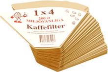 Kaffefilter 1x4, 200 st 7392617104022 Replace: N/A Kaffefilter 1x4, 200 st