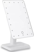 eStore Sminkspegel med LED-lampor - Vit