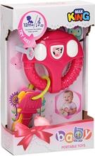 Baby rat med nøgler, pink