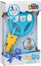 Baby rat med nøgler, blå