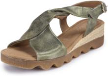 Sandaler i äkta läder från Gabor Comfort grön
