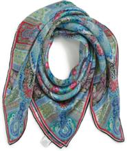 Scarf i 100% silke från Roeckl blå