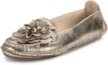 Loafers i äkta läder från Peter Hahn guld