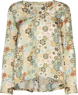 Molly-Hooked Blouse Bluse Langærmet Multi/mønstret ODD MOLLY