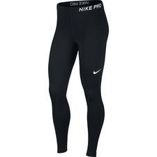Nike Pro Tights Lang - Sort/Hvid Kvinde