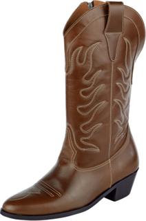 Cowboystøvler av skinn Softwalk brun