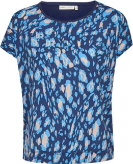 InWear Dame Bluse - Ink Blue Irregular Animal