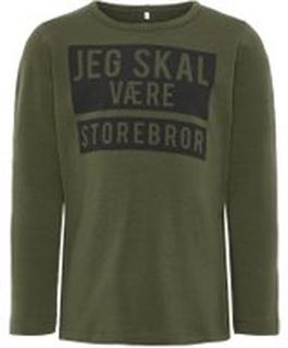 NAME IT Mini Printet Langærmet T-shirt Mænd Grøn
