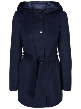 VERO MODA Wool Coat Women Blue