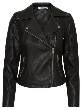 NOISY MAY Leather-look Jacket Women Black