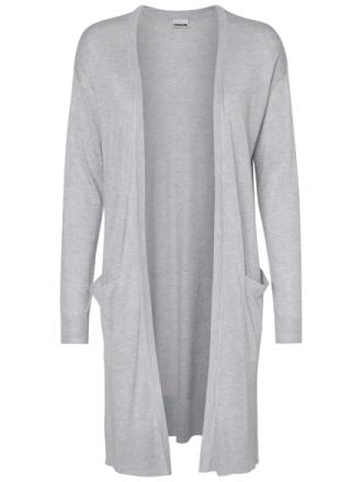 NOISY MAY Long Knitted Cardigan Women Grey