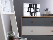 Beliani Ljuslåda LED 60 bokstäver ZEYA