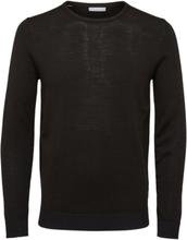 SELECTED Slhtower Merino - Knitted Pullover Men Black