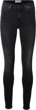 SELECTED Mid Waist - Slim Fit Jeans Women Black