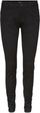 VERO MODA Seven Regular Waist Shape-up Slim Fit Jeans Women Black