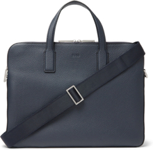 Crosstown Full-grain Leather Briefcase - Navy